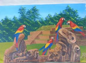 Copán con guaras